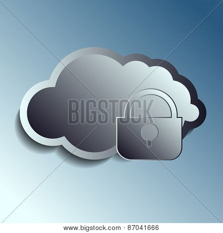 steel 3d vector clouds. Securety.