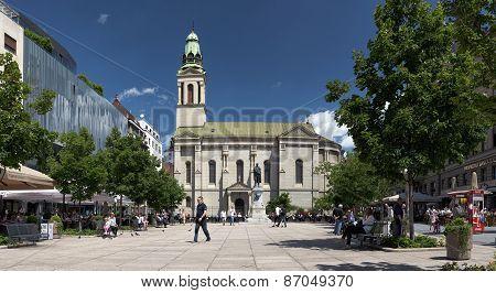Petar Preradovic Square In Zagreb, Croatia