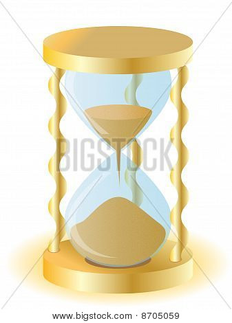 Vector Illustration A Gold Sand-glass