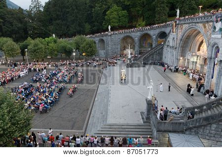 Overal View Of The Mass Held On Rosary Square At The Basilica