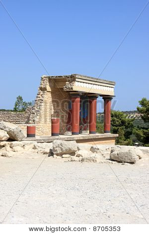 Portion Of Reconstruction Of The Minoan Palace At Knossos