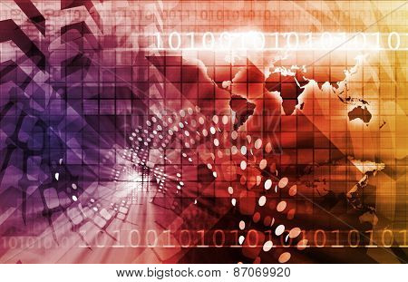 Business Finance and Technology as a Art Abstract background