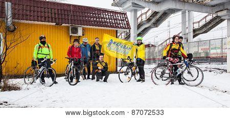 Riders before 200km brevet start