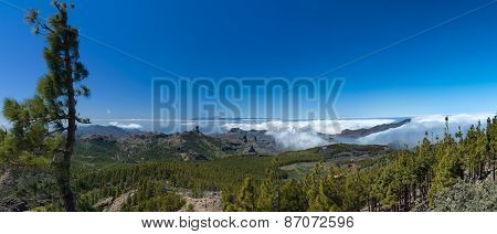 Gran Canaria, View From The Highest Point Of The Island, Pico De Las Nieves