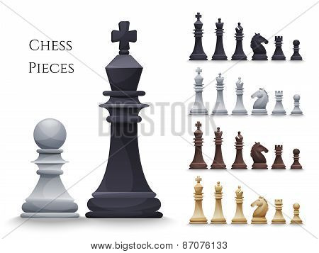 Vector Chess Figures big set