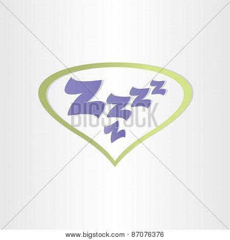 Sleep Box Letters Zzz Sleeping