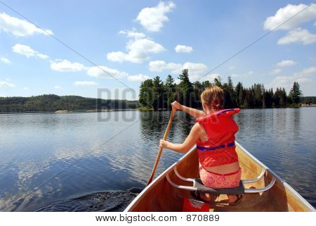 Child in canoe