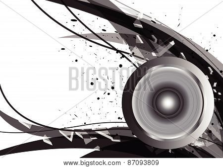 Abstract Design Music Concept Background