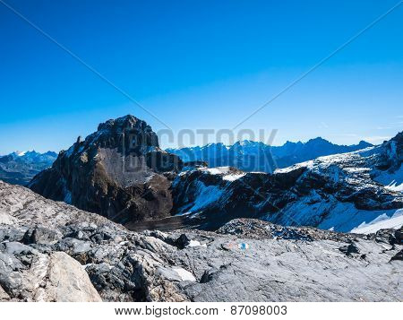 Panorama View Of The Alps