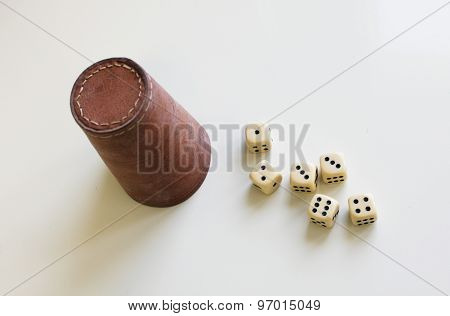 dice cup playing gaming game play luck