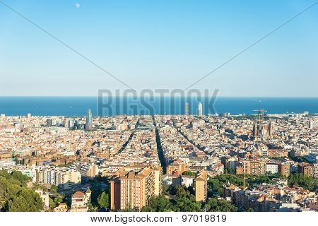 Top view to Barcelona