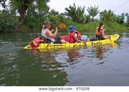 Kayaking On A River In Kauai
