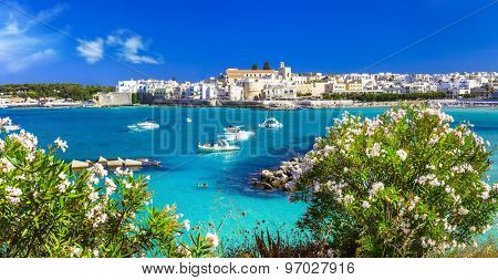 Italian vacation - Otranto in Puglia with cristal waters poster