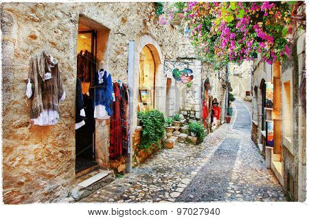 Villages of Provence- Saint-Paul de Vence, artistic picture