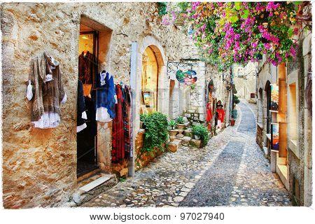 Villages of Provence- Saint-Paul de Vence, artistic picture