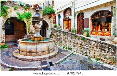 Saint-Paul de Vence- charming village in Provence, France. artis