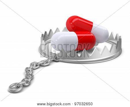 Pills in bear trap