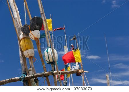 Flags on fishing boats