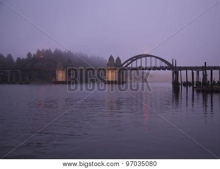 Siuslaw River Bridge, Siuslaw river, Florence, Oregon, USA
