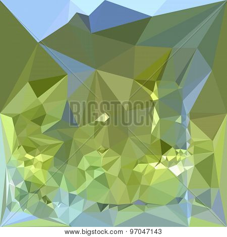 Limerick Green Abstract Low Polygon Background