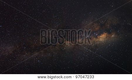 The Panorama Milky Way Galaxy, Long Exposure Photograph..
