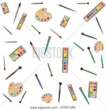 painting instruments art pattern