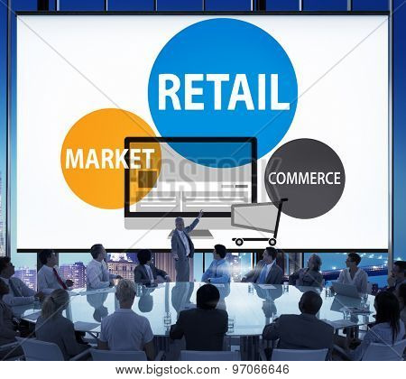 Retail Consumer Commerce Market Purchase Concept poster