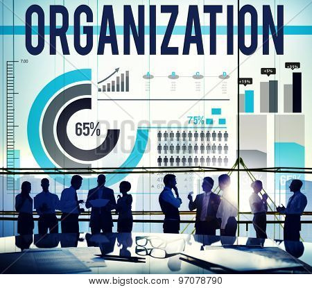 poster of Organization Corporate Business Commitment Team Concept