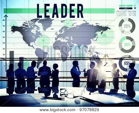 Leader Leadership Authoritarian Director Concept