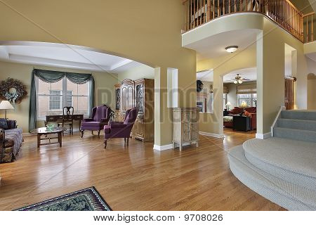 Foyer With Living Room View