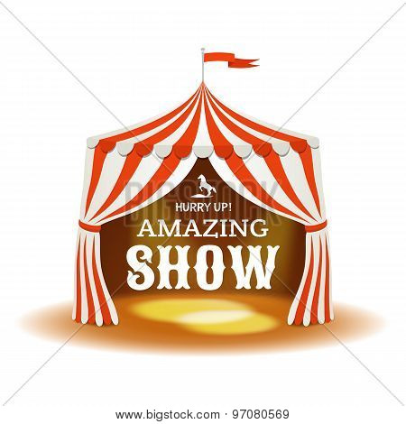 Circus Tent. Vector Illustration