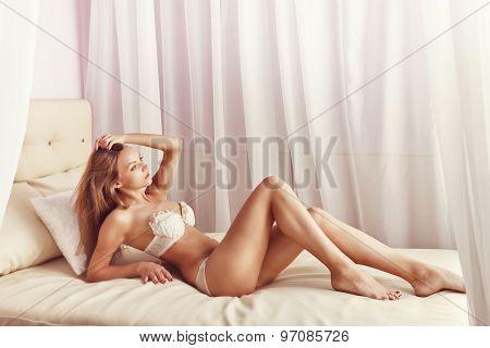 Sexy Girl In Her Underwear.
