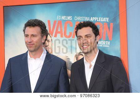 LOS ANGELES - JUL 27:  Jonathan Goldstein, John Francis Daley at the