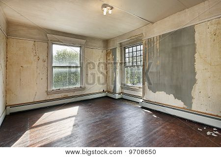 Bedroom In Old Abandoned Home