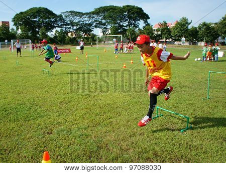 Asian Children, Football, Summer, Kid, Physical Education, Soccer