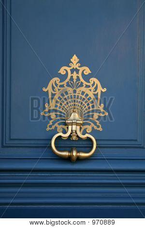 Blue And Gold Door