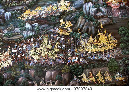 Public Art Painting At Wat Phra Kaew