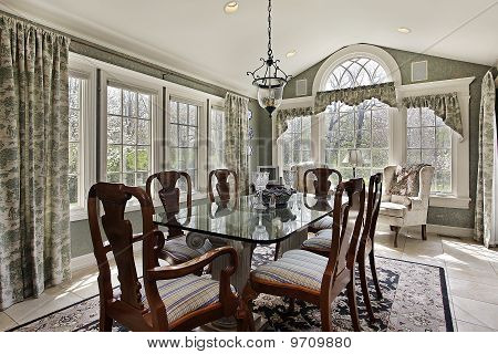 Breakfast Area With Wall Of Windows