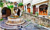 Saint-Paul de Vence- charming village in Provence, France. artis poster