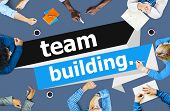Team Building Cooperate Cooperation Management Concept poster