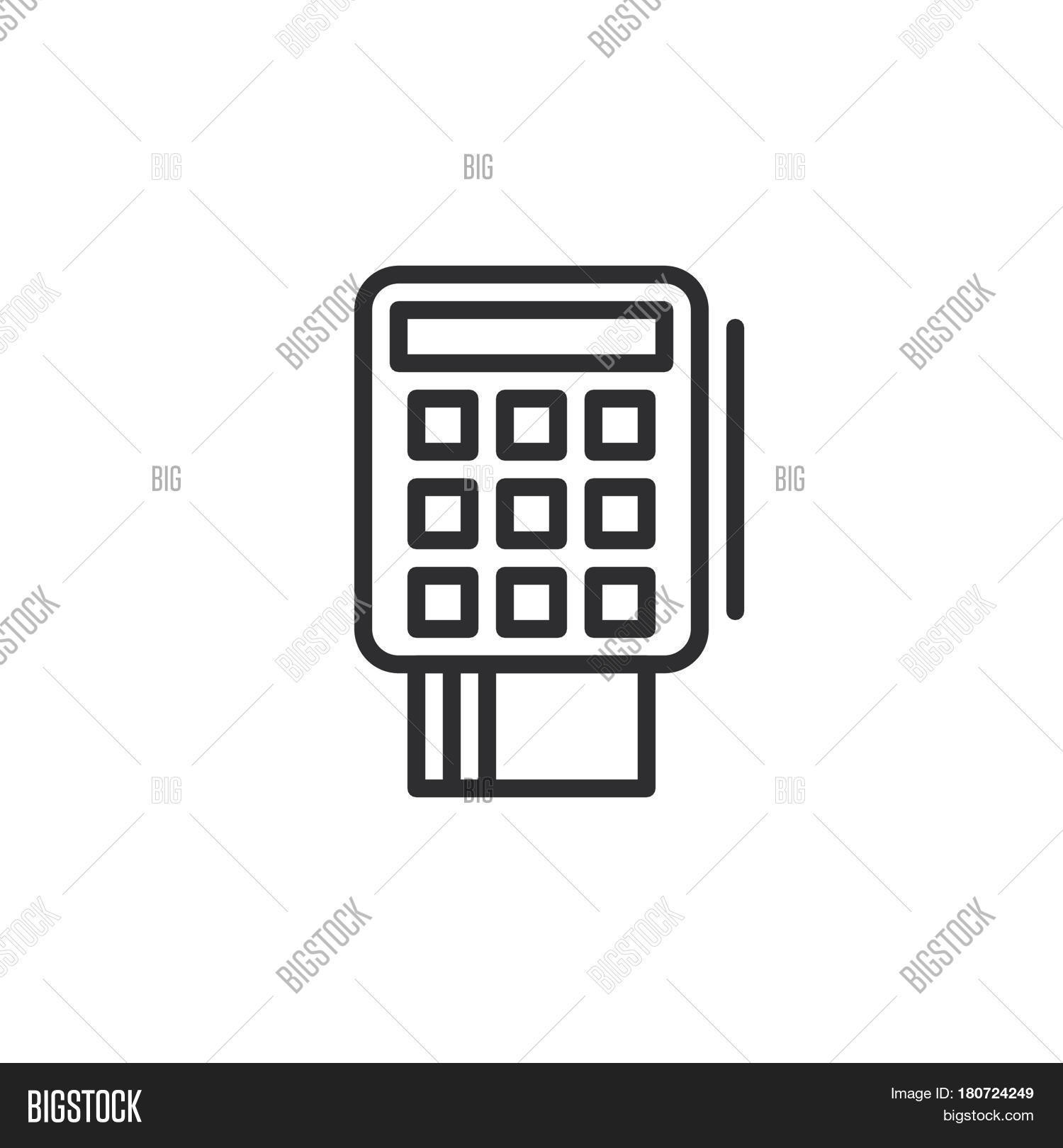 Credit Card Terminal Vector & Photo (Free Trial) | Bigstock