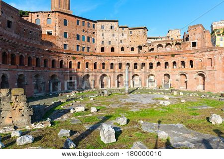 Forum and market of Trajan in Rome, Italy