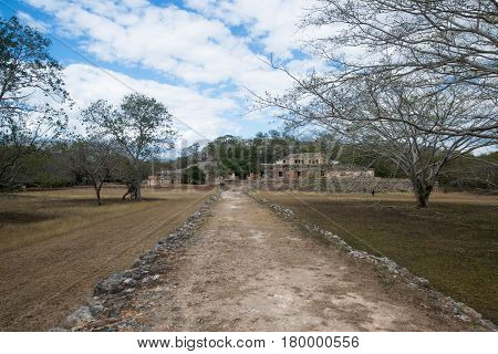 Ancient mayan arch, Labna mayan ruins, Yucatan, Mexico