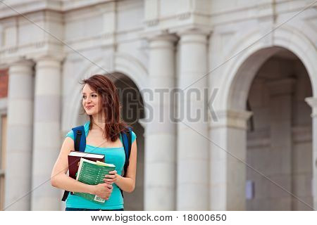 Female student on campus