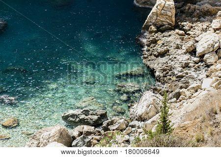 Beautiful Lagoon With Turquoise Sea