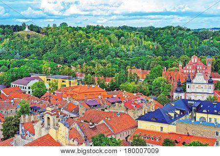 Churches Of Saint Anne And Saint Bernard In Vilnius