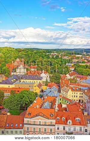 Churches Of St Anne And Saint Bernard In Vilnius