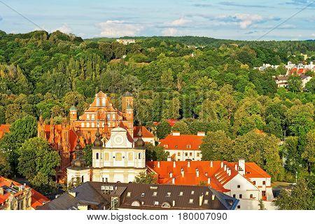 Churches Of St Anne And St Bernard In Vilnius