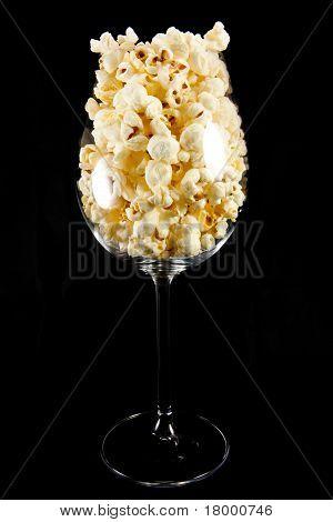 Wine Glass With Popcorn