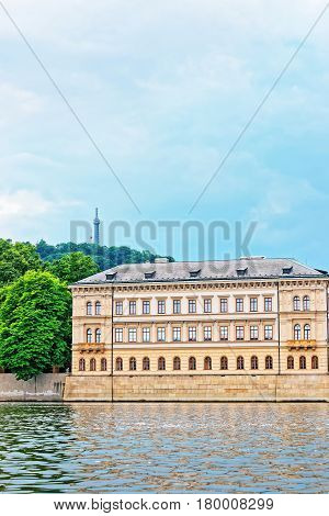 Building At Vltava River In Prague